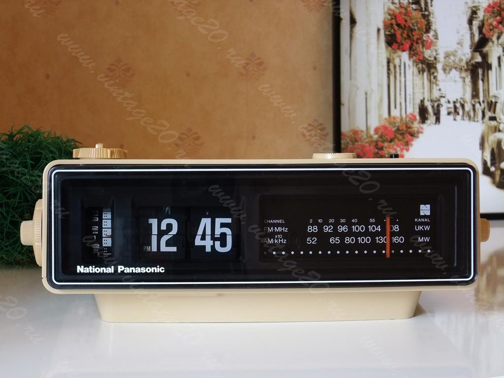 Перекидные винтажные часы «День Сурка» Panasonic RC-6030